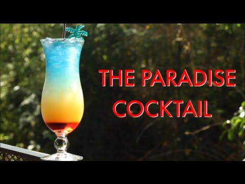 How To Make A Paradise Tropical Layered Cocktail   Drinks Made Easy