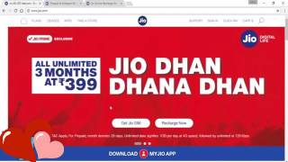Jul 18, 2017 ... JIO Monsoon OFFER Launched - 349 399 JDDD New Plans - Free 4G Data .... nOffer launched Get 84 Gb Data in Rs399 for 84 days #JDDD...