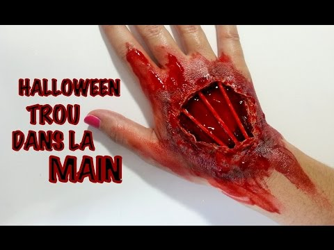 Halloween Maquillage artistique Trou dans la Main