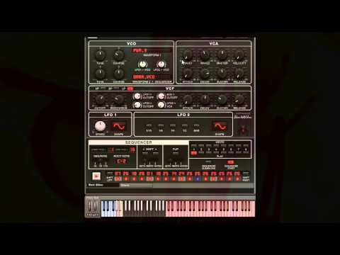 Synth Magic Black Widow Quick sequencer demo