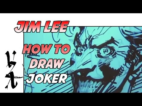 jim lee how to draw joker how to draw hands