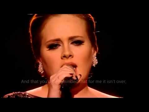 Adele   Someone like you OFFICIAL VIDEO LYRICS HD Live from Brit Awards 2011   YouTube