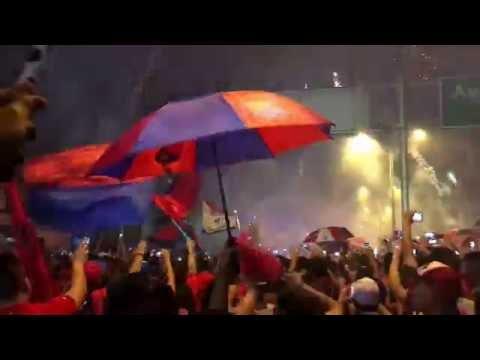 Medellín 1 vs Millonarios 0 - Recibimiento de la hinchada poderosa. - Liga Aguila 2016 - Rexixtenxia Norte - Independiente Medellín