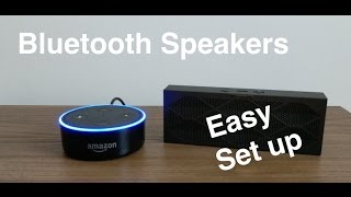 How to pair bluetooth speaker to the Amazon Echo Dot. How to connect echo dot to speakers.After setting up Amazon Echo dot, you may want to consider pairing bluetooth speakers to your echo dot. amazon echo dot and bluetooth speakers makes your echo dot experience even more enjoyable. The video will give you easy echo dot set up instructions on pairing echo dot to bluetooth speakers. How to Connect echo dot to speakersEnjoy.Check out the products.... Jawbone Mini Jambox : http://amzn.to/2fCBDEuAmazon Echo Dot (2nd GEN) : http://amzn.to/2fUhU44Amazon Echo : http://amzn.to/2g8ey0fFollow me atInstagram: www.instagram.com/soldbytechtwitter : www.twitter.com/soldbytech