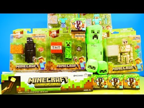 toys - Minecraft Toys !!! We Unbox 5 figure packs, 4 blind box series 1, and a Giant Light Up Torch !! Check out more of our Play Doh Videos by Disney Cars Toy Club below! PLAY DOH Surprise Eggs...