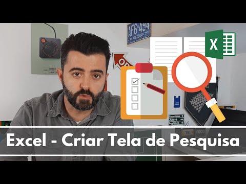 Excel - Criando tela de Pesquisa (Filtro Avançado com Macro)