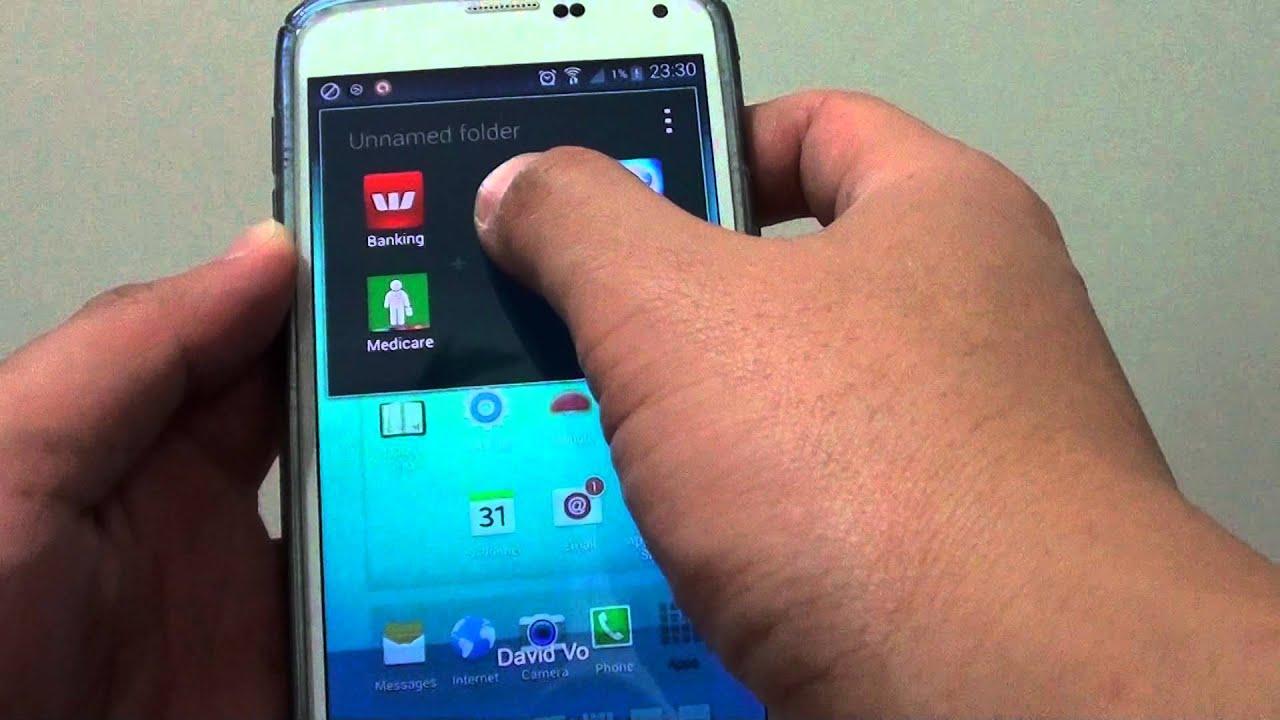 Descargar Samsung Galaxy S5: How to Re-Arrange Apps Inside Home Screen Folder para Celular  #Android