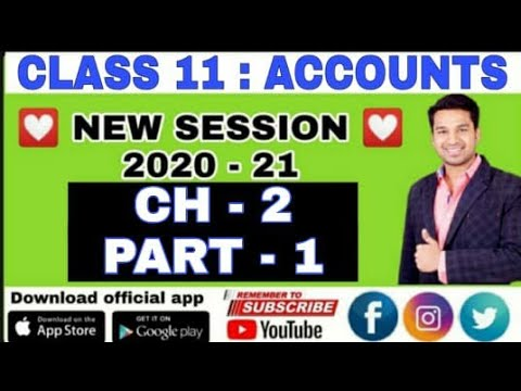 Class 11th Chapter 1 Topic: Basic Accounting Terms Part-I