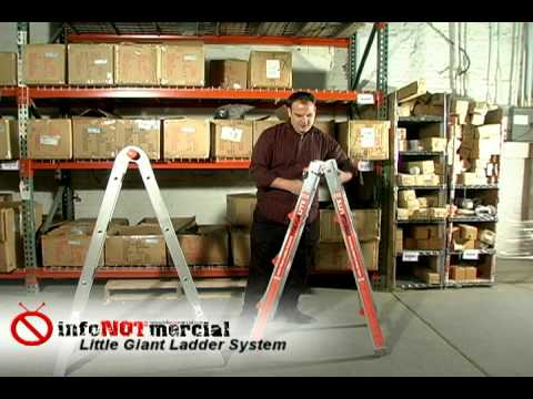 little giant ladders - From InfoNOTmercial, the Little Giant review. See our full little giant ladder test at http://www.infonotmercial.com/littlegiant-review.html Unbiased Infomer...