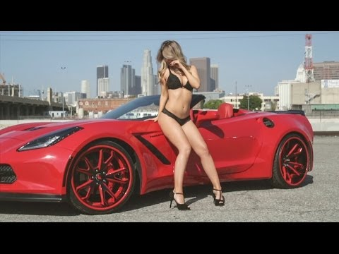 Cars Amp Girls Hot Model With Forgiato Corvette Stingray
