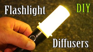 Anyone can turn a flashlight into a highly effective area light with a DIY diffuser. This video shows some of the common household items I have used to make Flashlight Diffusers. Many of these DIY diffusers can be modified to fit a large variety of flashlights and flashlight types.I'd appreciate if you could like our FB page here (You will get FB updates when I post a new video): http://www.facebook.com/beactivelifeAnd follow on twitter as well here:https://twitter.com/beactivelife