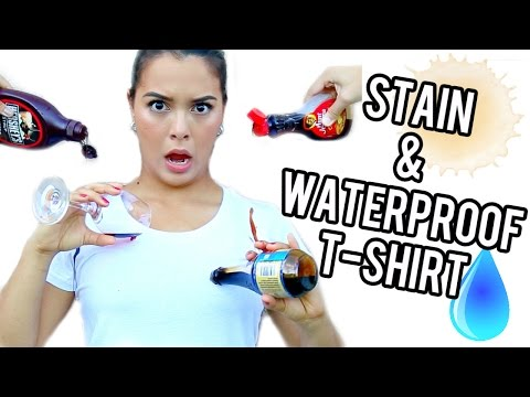 TEST IT OUT! Stain & Waterproof T-shirt!!