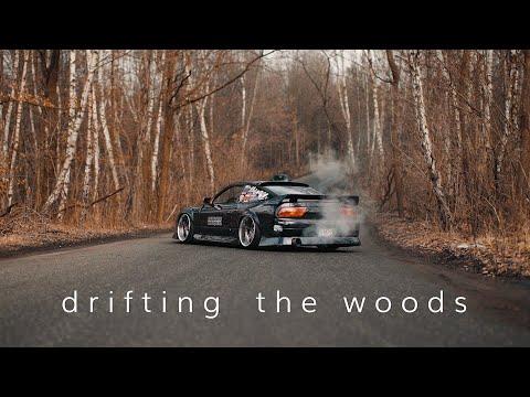 1UZ Nissan 200SX S13 Drifting through the woods | 4K