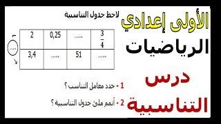 الرياضيات الأولى إعدادي - التناسبية تمرين 29