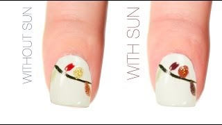 Christmas Lights Color-Changing Nail Art Design