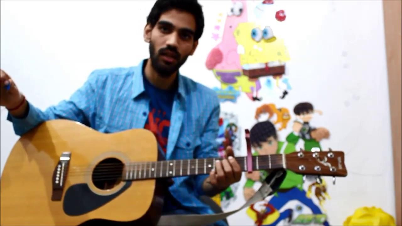 Romantic Mashup Super Beginners ( G , D , Em , C ) – Guitar cover lesson chords Hindi  bollywood