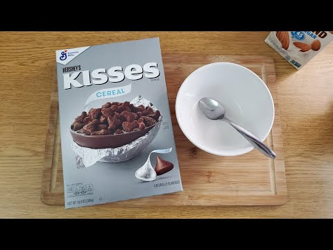 NEW HERSHEY'S KISSES CEREAL REVIEW
