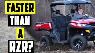 2. Can Am Defender Hd10 Top Speed - RZR doesn't stand a chance