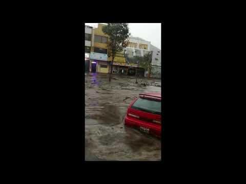 Fuertes lluvias inundan Pomasqui