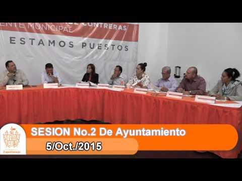 Sesión Ordinaria No. 2 de Ayuntamiento 5 de octubre de 2015