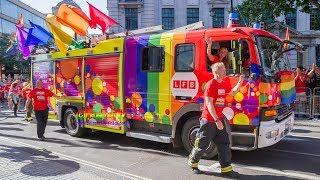 Nonton Fire   Rescue   Ambulance And Police At Pride In London 2017 Parade  Film Subtitle Indonesia Streaming Movie Download
