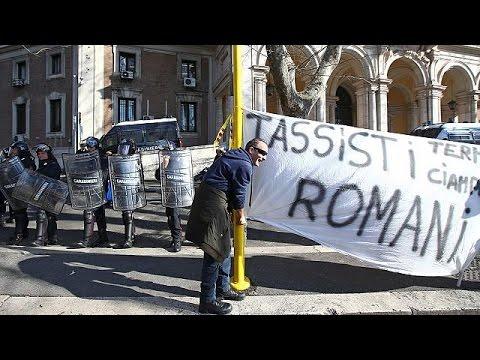 Ιταλία: Κλιμακώνουν τις απεργιακές κινητοποιήσεις οι οδηγοί ταξί