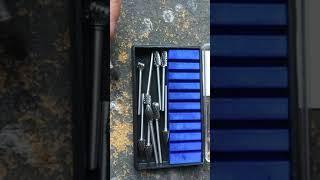 10. BANGGOOD 10Pcs 1/8 Inch Shank Tungsten Carbide Burr Rotary Drill Bits Cutter Files Set