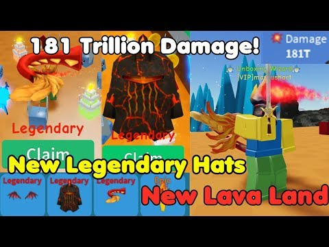Update! New Best Legendary Hats! 181 Trillion Damage! Got Best Swords! - Unboxing Simulator