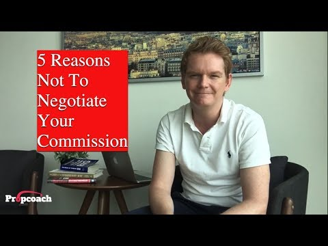 5 reasons NOT to negotiate your commission - Propcoach