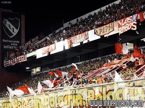 #IRTV La hinchada vs. San Martín - La Barra del Rojo - Independiente