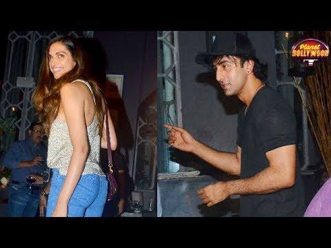 Exes Ranbir Kapoor & Deepika Padukone Party Till W