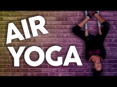 Trying Anti-Gravity Yoga?! (Get Jacked)