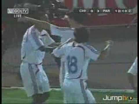 Gol de Paulo da Silva a Chile