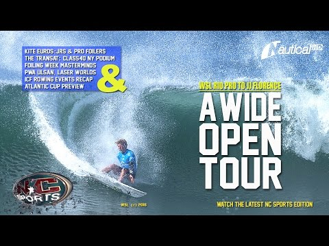 NC Sports  27 May  JJ Florence Wins Rio Pro, Laser Worlds, Foiling Week Masterminds