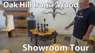 Here's a showroom tour at Morganton, NC's Oak Hill Iron + Wood. These folks make gorgeous wood and iron furniture, art, gates, railings and much more. They also offer custom kitchen designs. Here is the link to their website: https://oakhilliron.com/ - If you are in Morganton, stop by their location. They are friendly, and they are amazing craftsmen & and women.