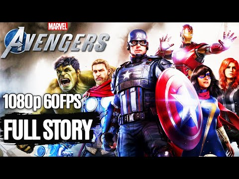 MARVEL'S AVENGERS All Cutscenes (Game Movie) 1080p HD