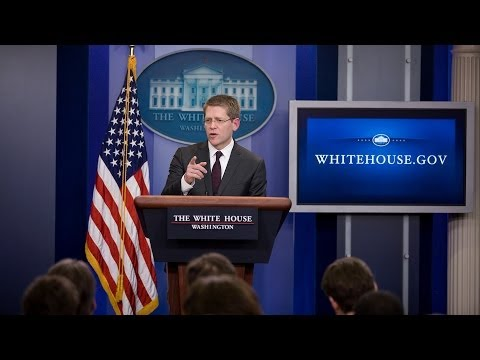 white - White House Press Briefings are conducted most weekdays from the James S. Brady Press Briefing Room in the West Wing.