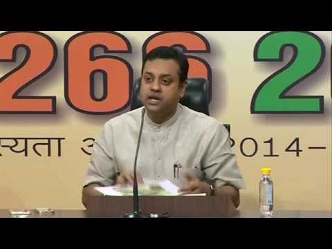 BJP Press Conference by Dr. Sambit Patra: 21.04.2015