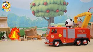 Earthquake Strikes Baby Panda's School | Super Panda Rescue Team | Kids Toy Story | ToyBus