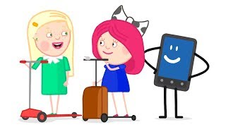 Smarta and her Magic Bag: Baby cartoons for girls - Smarta repairs the swing.