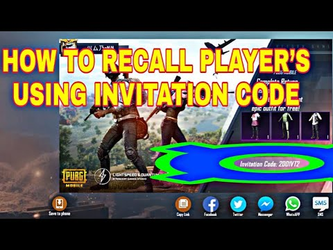 How to Recall PUBG Player's Using Invitation Code || PUBG MOBILE || FULL EXPLANATION
