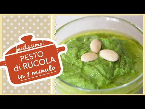 video ricetta: pesto di rucola in meno di 60 secondi