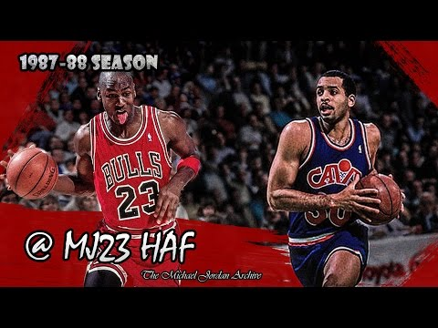 Michael Jordan Vs Dell Curry (Stephen's Father) Highlights Bulls Vs Cavs (1988.03.25) - 65pts Total!