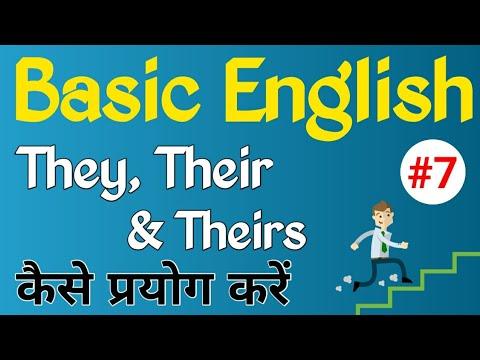 Use of They, Their & Theirs को सही तरीके से कैसे Use करें ? | Present tense | Pronoun