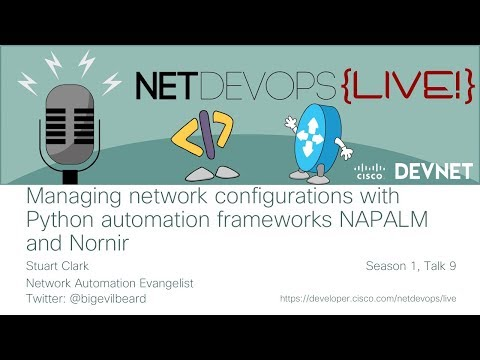 Managing network configurations with Python automation frameworks NAPALM and Nornir