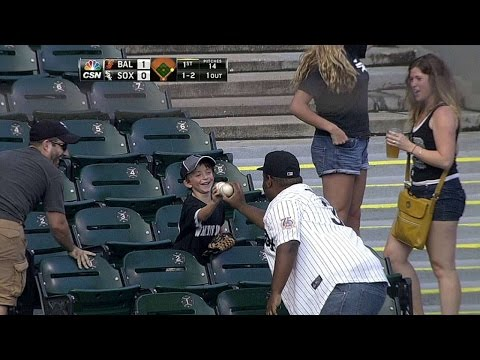 celebrates - 8/19/14: A young White Sox fan is given a foul ball to take home and celebrates ecstatically in the stands Check out http://m.mlb.com/video for our full archive of videos, and subscribe on...