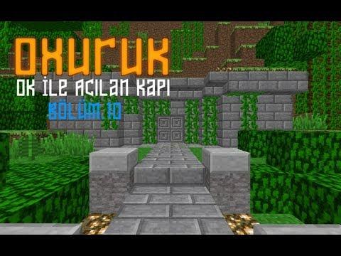 Minecraft Ok İle Açılan Otomatik Ve Gizli Kapı Sistemi