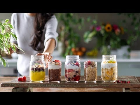 The Ultimate On The Go Breakfast - Overnight Oats 5 Ways