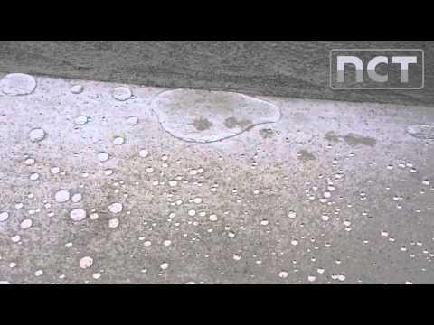 Mittels NCT Hydro imprägnierter Beton