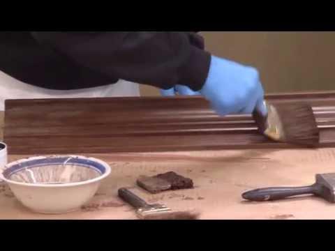Faux Finish Walnut foam crown molding. Creative Crown